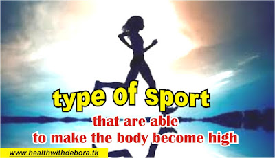 types of sports that are able to make the body become high