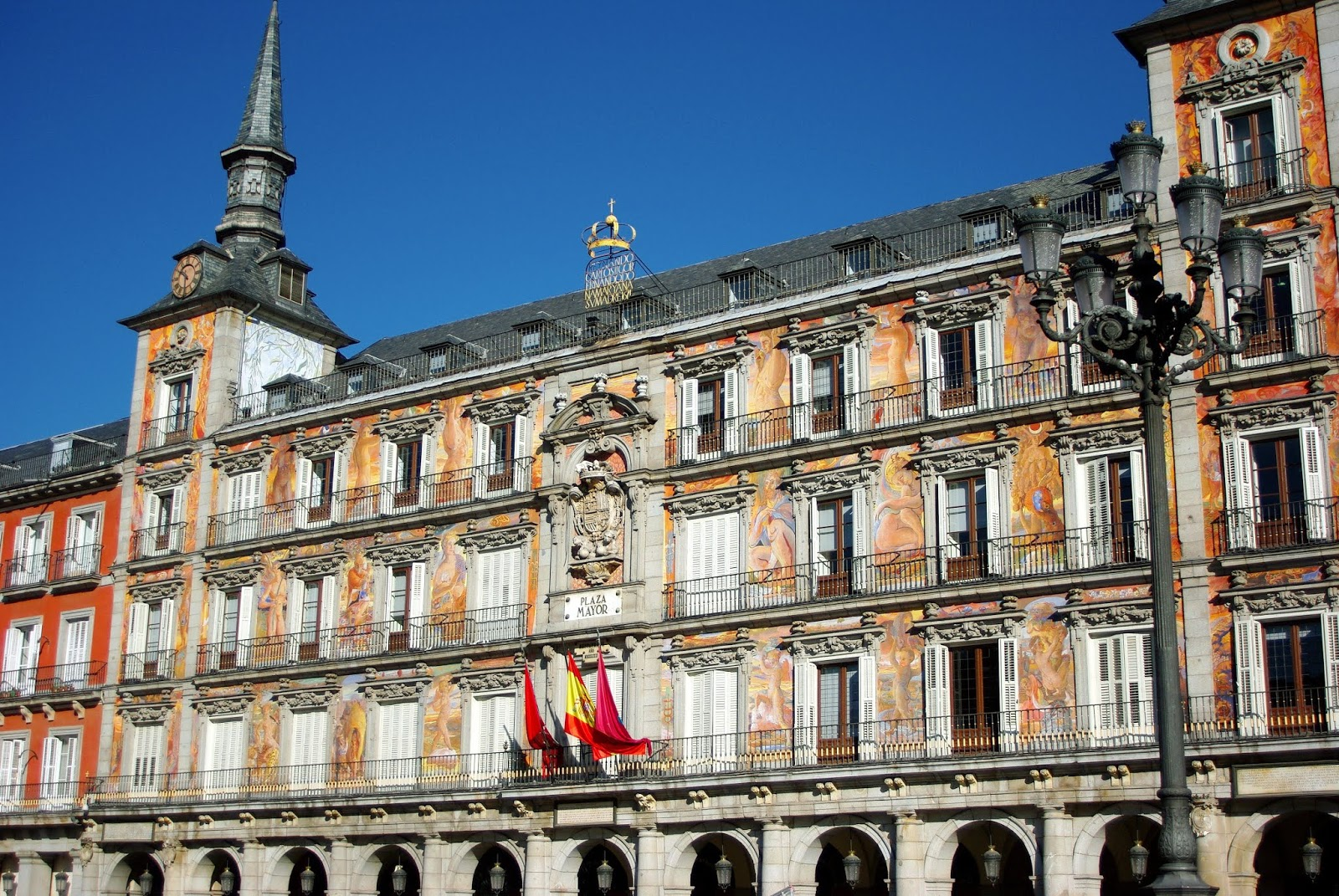 Madrid, plaza mayor, city, architecture