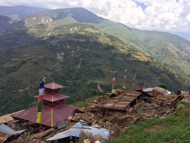 Image of Yangri after earthquake
