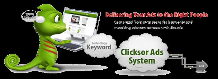 clicksor-contextual advertising network for bloggers-700x300