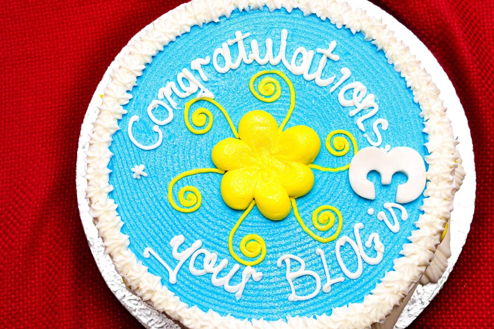 Blog Anniversary Cake
