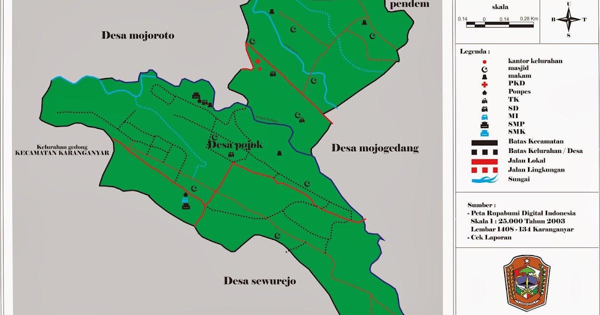 Peta Wilayah Desa Pojok ~ KELURAHAN POKOK