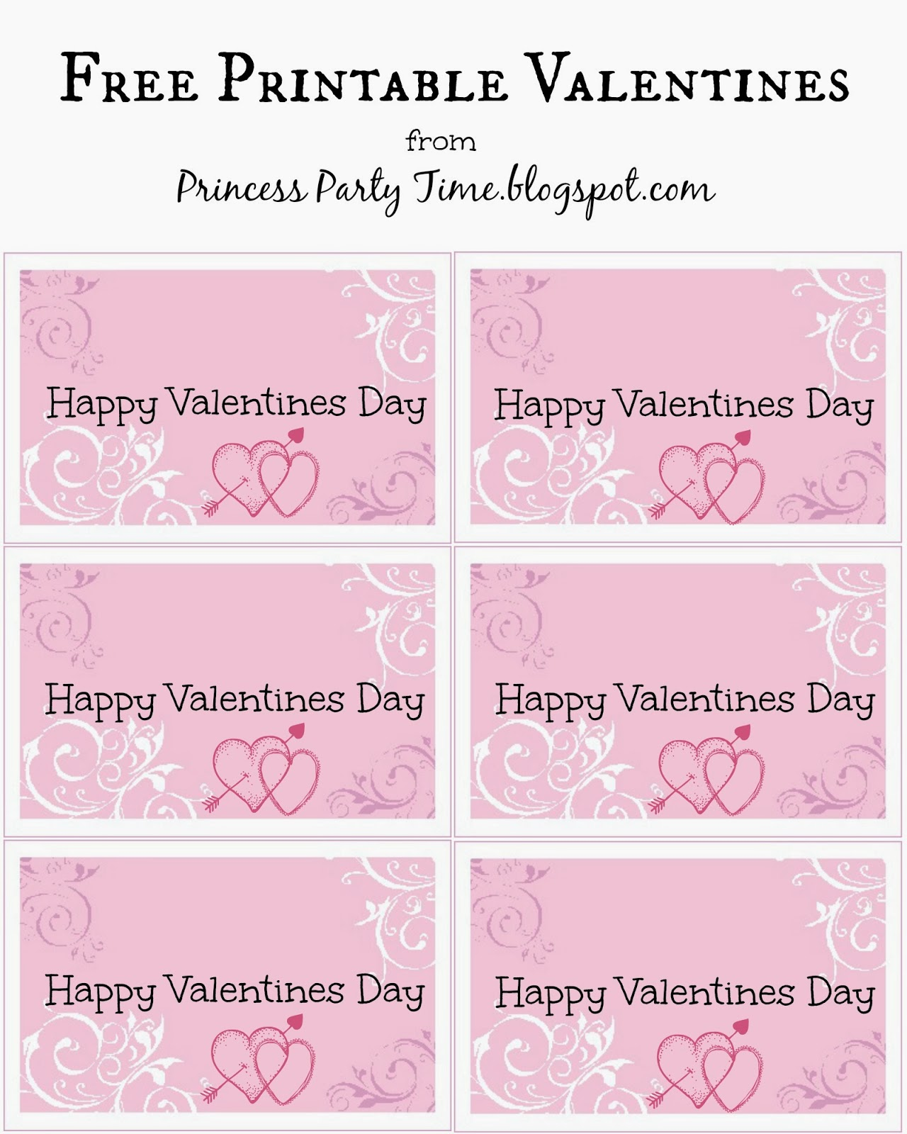 It S A Princess Thing Free Printable Valentines