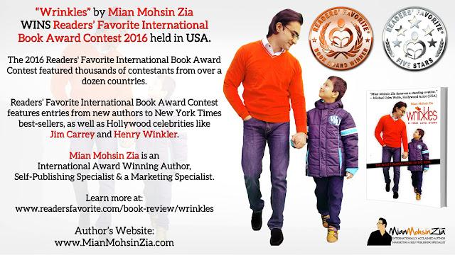 Wrinkles by Mian Mohsin Zia WINS Readers' Favorite International Book Award Contest 2016