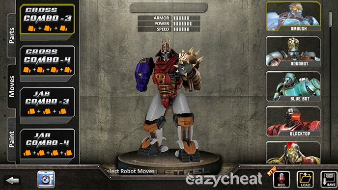 Real Steel Cheats