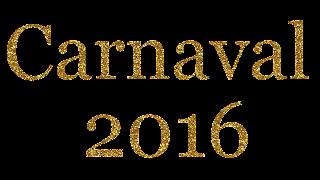 Texto Carnaval 2016 dourado png