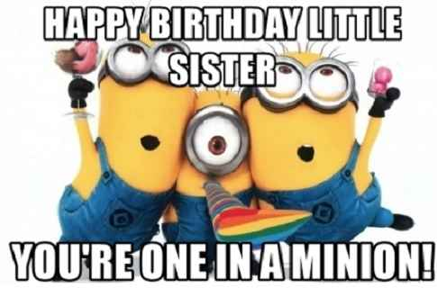 Happy Birthday Little Sister Funny Meme
