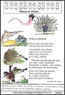 Leitura festa na floresta para 1º ano