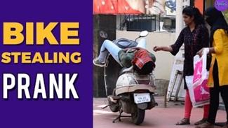 Bike stealing prank | Verithanam | Kulfi | Tamil Prank