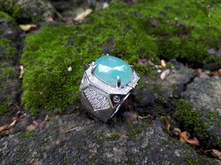 Batu Natural Giok Jadeite Jade No Treatment Origin Burma JDT008 Oily Texture Memo DGL