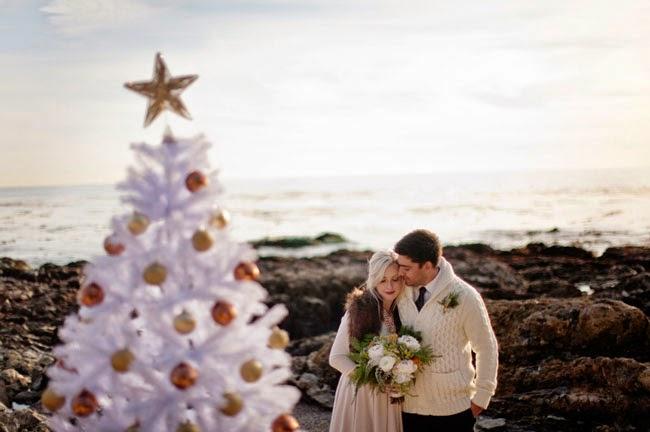 Ideas de decoración para bodas navideñas