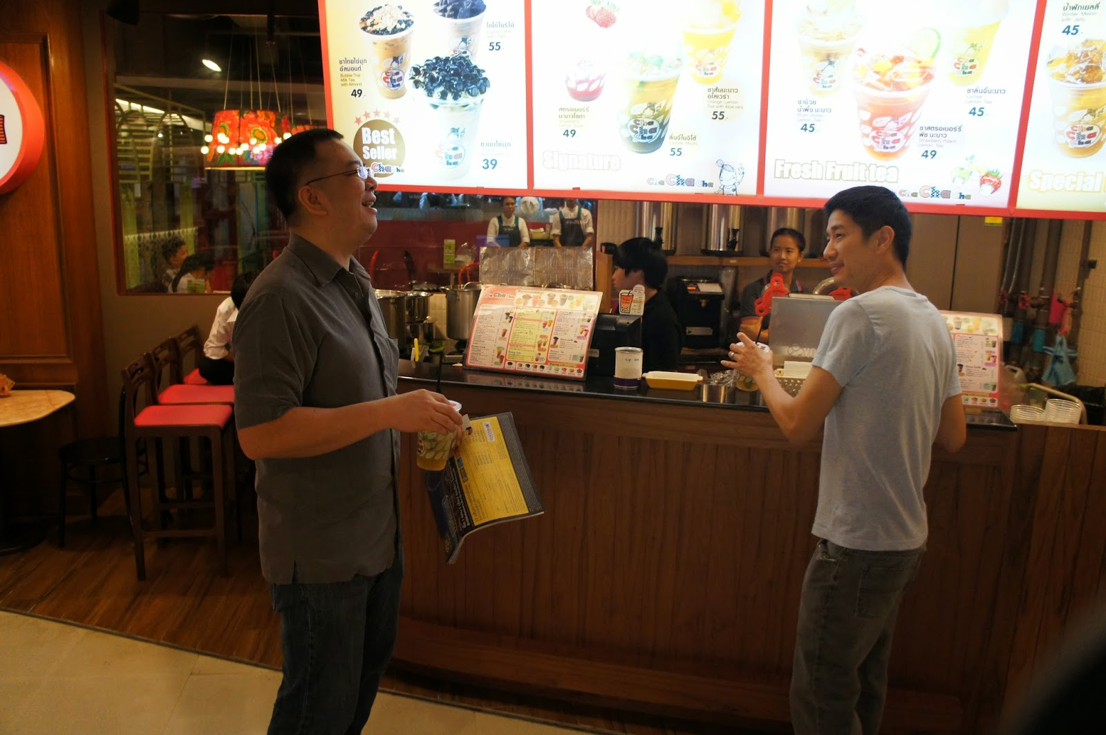 Bangkok - We make a stop for bubble tea at a nearby mall