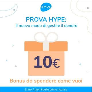 HYPE - € 10 DI CREDITO IN REGALO [promozione scaduta il 31/12/2019] Hype