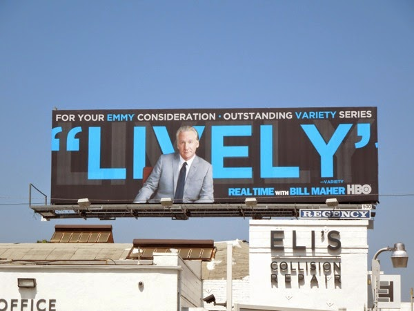 Real Time Bill Maher Lively HBO Emmy 2014 billboard