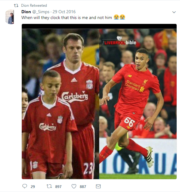 A fan called Dion Simpson claims it was him who accompanied Jamie Carragher on the Elland Road tunnel in 2009