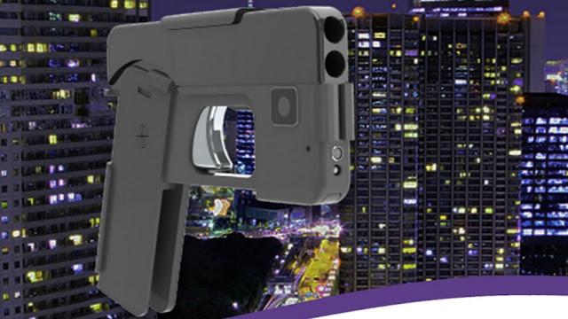 pistola disfrasada como smartphone