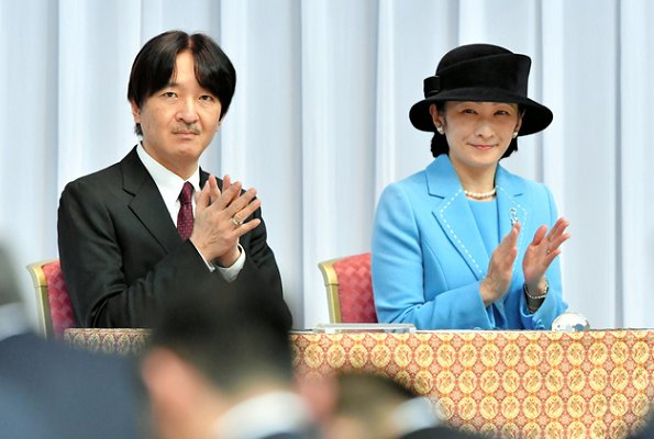 Prince Akishino and Princess Kiko attended the send-off ceremony for the Japanese national team