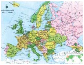 Peta Letak Geografis dan Astronomis, Bentang Alam, Batas-Batas, Iklim serta Keadaan Penduduk Negara-Negara di Benua Eropa