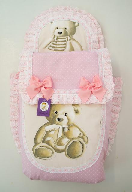 saco capazo baby jogger city mini 4 osos rosa
