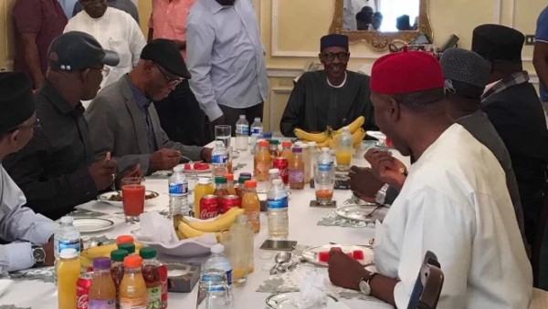 Chidi Mokeme Mocks Photo Of President Buhari And APC Members In London1