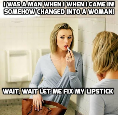 Let me fix my lipstick - Sissy TG Caption