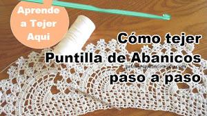 Cómo tejer puntilla de abanicos grandes / Aprende crochet