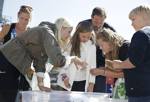 Prince Haakon, Princess Mette Marit, Princess Ingrid Alexandra and Prince Sverre Magnus visited Passion for Ocean Festival in Oslo