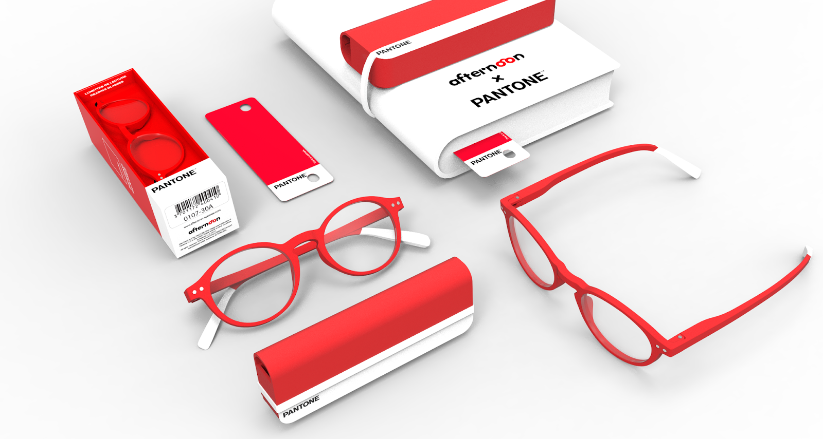 PANTONE Reading Glasses on Packaging of the World