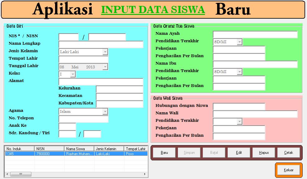 Download Aplikasi Data Dan Profil Data Siswa Terbaru Dan