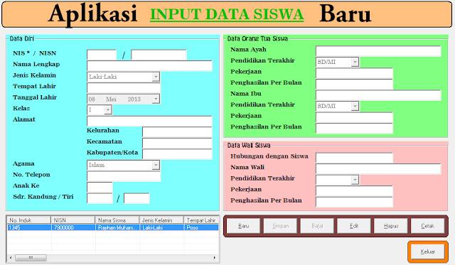 Aplikasi Data dan Profil Data Siswa Terbaru Versi 2017