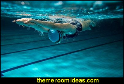 Female Swimmer Swimming Wall Mural Peel and Stick Graphic