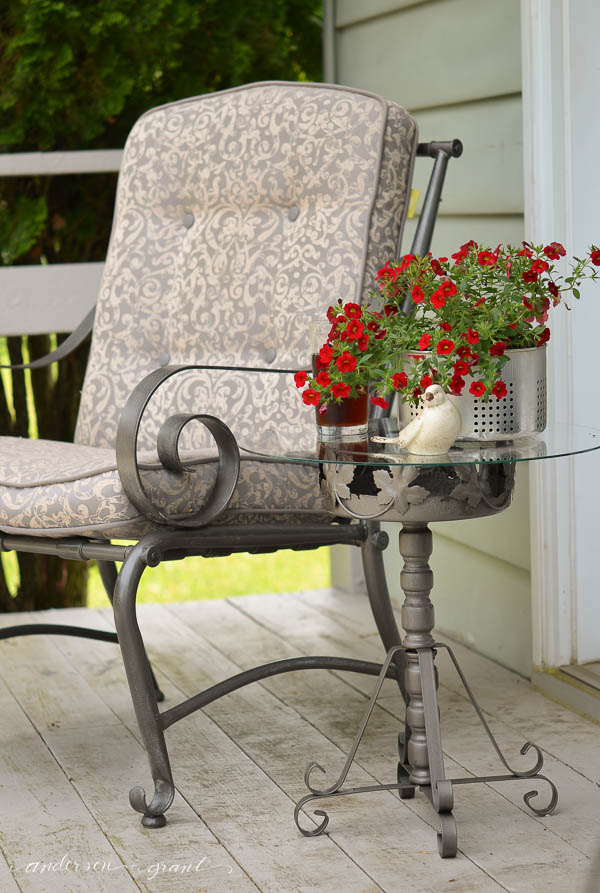 Create a beautiful and useful table to use on our outdoor deck in the summer.  |  www.andersonandgrant.com