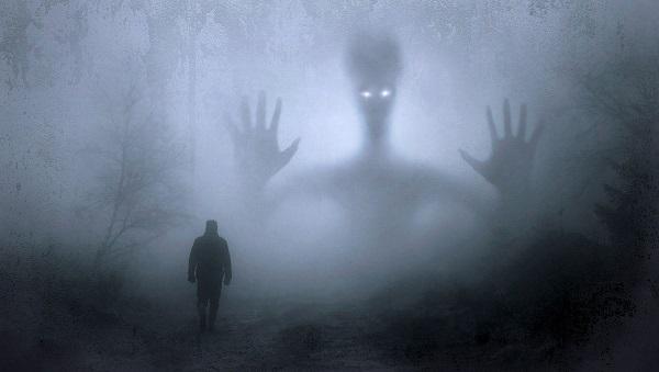 Imagem de uma assombração