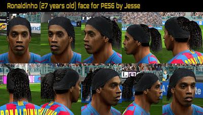PES 6 Faces Ronaldinho Gaúcho by Jesse