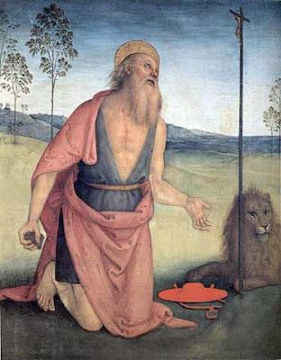 San Gerolamo nel dipinto del Perugino