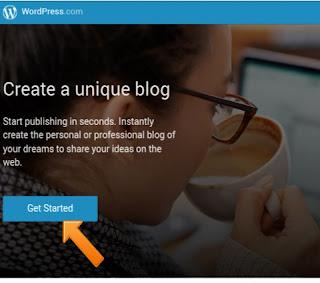 Start Wordpress free blog