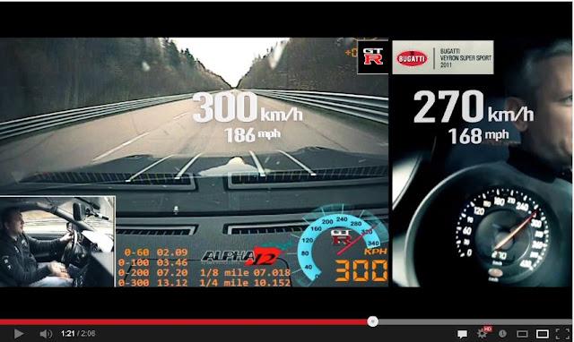 bugatti veyron super sport vs ams alpha 12 nissan gt r. Black Bedroom Furniture Sets. Home Design Ideas