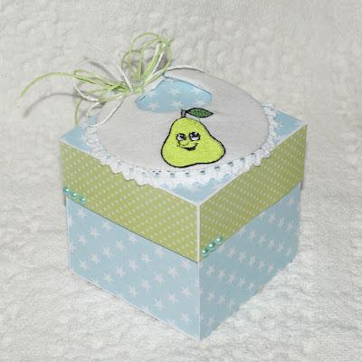 Gruszkowy box na chrzest