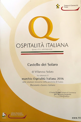 Castello dei Solaro - marchio Ospitalità Italiana 2016