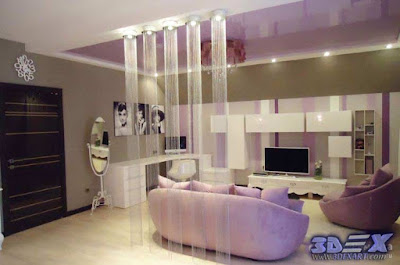 art deco style, art deco interior design, art deco living room decor and furniture in purple