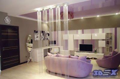 art deco style, art deco interior design, art deco living room decor and furniture in purple