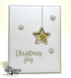 ODBD Products:  Custom Dies: Sparkling Stars, Double Stitched Stars, Pierced Rectangles, Holiday Words, Retro Ornaments (snowflakes)  Paper Collection: Retro Christmas