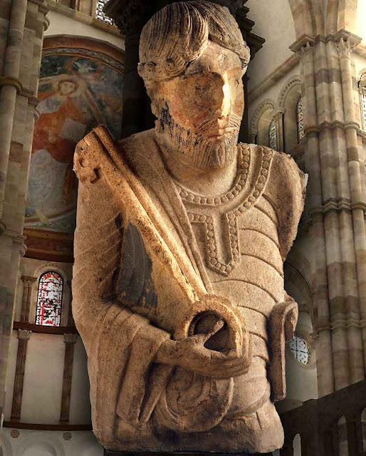 São Pedro, a quem estava consagrada a grande igreja abacial de Cluny, a maior da Idade Média