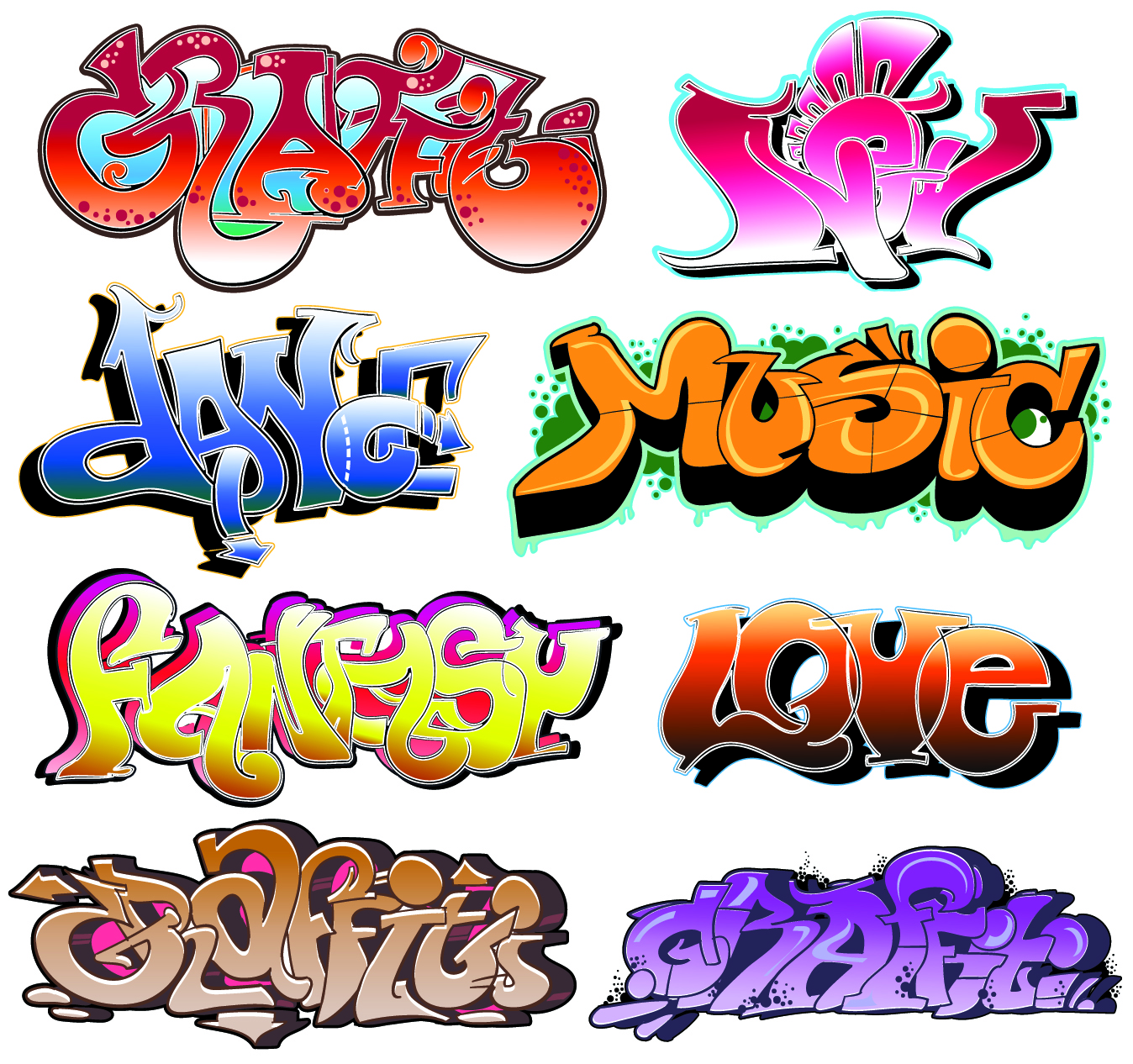 Graffiti Styles Fonts And Design