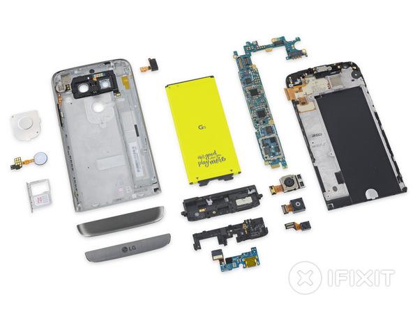Inilah jeroan LG G5, ternyata cukup mudah untuk diperbaiki sendiri