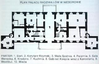 Plan Pałacu Radziwiłłów w Nieborowie