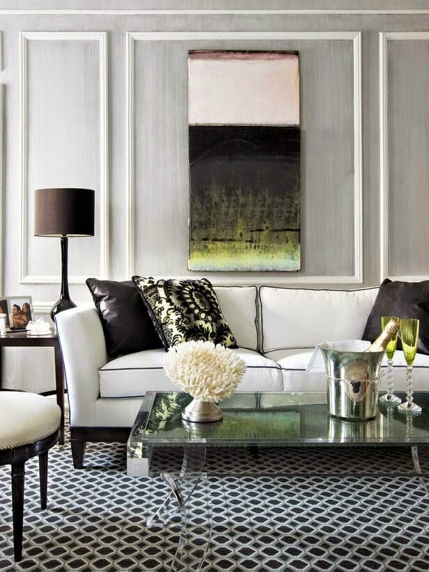 25 ideas de decoraci n de salas que poner al lado del sofa - Pared decorada con fotos ...