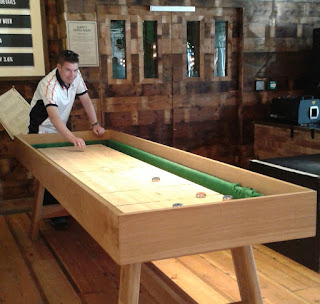 Shuffleboard at Albert's Schloss bier hall in Manchester