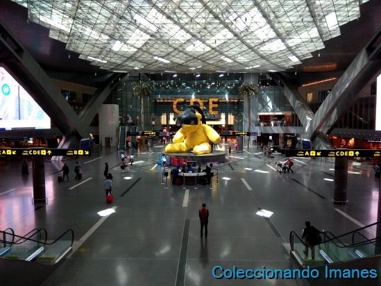 Aeropuerto de Doha Hamad, en Qatar