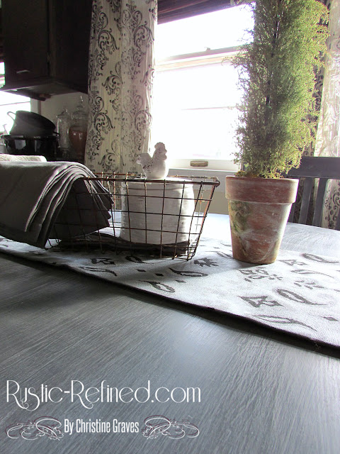 Chalk painting furniture for an easy update